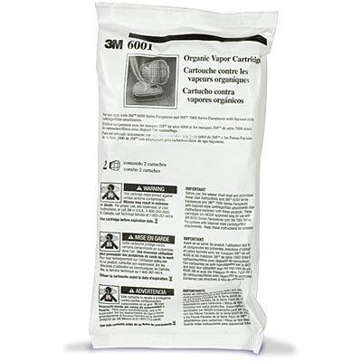 3M 6001 Organic Vapor Cartridges for Reusable Respirators 1-Pair